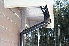 Dachrinnen Set RG80 461Bx 5-Eck Pavillon 5x4m PVC