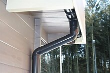 Dachrinnen Set RG80 482Ax 6-Eck Pavillon 3m Metall