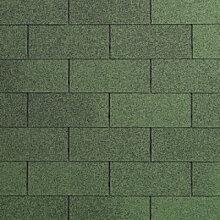 Dachschindeln grün Bitumenschindeln Gartenhaus 3m2