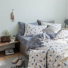 DACHUI Baumwolle Bettwäsche Set im Frühjahr und