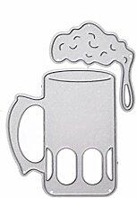 DAchun11 Metallstanzformen für Karten, Weinglas,