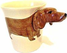 Dackel Braun Hunde Tasse 3D Tier Tasse 3D Becher