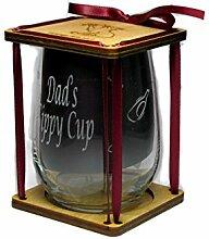 Dad 's Schnabeltasse 360Grad Gravur Weinglas