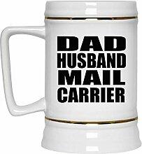 Dad Husband Mail Carrier - Beer Stein Bierkrug