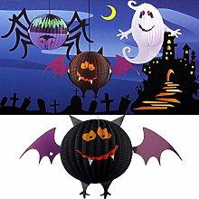 DaDago Lustige Led Halloween Fledermaus Laternen