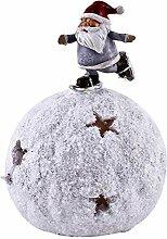 Dadeldo-Home Schneekugel LED Santa Deko-Figur