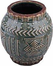 Dadeldo Home Vase Ethno-Chique Steinguss