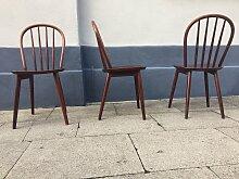 Dänischer Stuhl mit Sprossen-Rückenlehne von