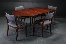 Dänischer Vintage Esstisch & 4 Stühle in Mahagoni
