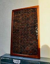 Dänischer Vintage Wandspiegel mit Rahmen aus Teak