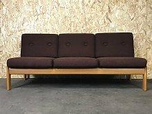 Dänisches Mid-Century Sofabett aus Eiche