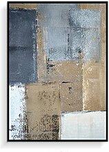 Daeou Abstraktes schwarz-weiß Wohnzimmer Dekorationsmalerei Sofa Hintergrund hängenden Bild