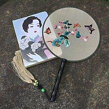 Daeou Chinese wind Handstickerei Gong Fan