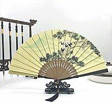 Daeou handbemalte Baumwolltuch Fan kompakt