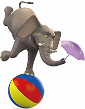 Daesar 3D Duschvorhang Antischimmel Elefant mit