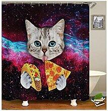 Daesar 3D Duschvorhang Antischimmel Katze mit
