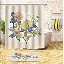 Daesar Badematte Waschbar rutschfest 40x60 Blumen