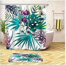 Daesar Badematten Dusche rutschfest 40x60 Blumen