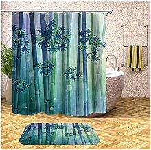 Daesar Badematten WC 40x60 Bambus Wald Lustiger