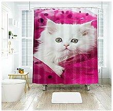 Daesar Badewannen Duschvorhang 120x180 Weiß
