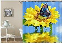 Daesar Badewannen Duschvorhang 165x180 Sonnenblume