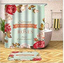 Daesar Badezimmerteppich Toilette 40x60 Blumen