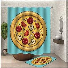 Daesar Badezimmerteppich Toilette 40x60 Pizza