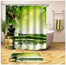 Daesar Bambus Blumen und Steine 40x60 Badezimmer
