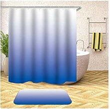 Daesar Blau Farbverlauf 40x60 Badematte WC