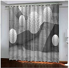 Daesar Gardinen Vorhang mit Ösen Motiv Blickdicht