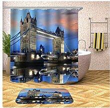 Daesar London Bridge Nachtsicht 40x60 Badematte WC