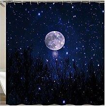 Daesar Lustiger 3D Duschvorhang Antischimmel Mond