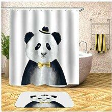 Daesar Panda Badematte Vorleger rutschfest 40x60