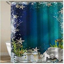 Daesar Polyester-Stoff Badezimmer Duschvorhang