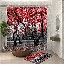 Daesar Rot Blumen Bäume 40x60 Fußmatte Badezimme