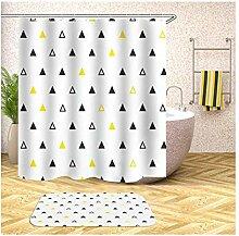 Daesar Schwarz Weiß Gelb Dreieck 40x60 Badezimmer