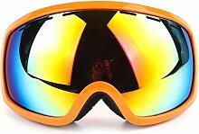 Daesar Skibrille Nebel Sportbrille Nacht Orange