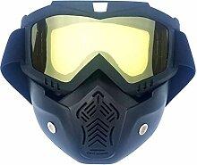 Daesar Skibrille Unisex Horizontal Schwarz Gelb