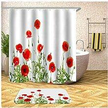 Daesar Toiletten Teppich 40x60 Rot Blume
