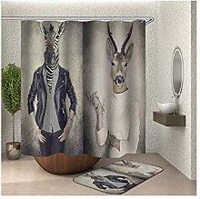 Daesar Toilettenteppich 40x60 Zebra und Hirsch