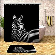 Daesar Zebra Badematte Waschbar 40x60 150x200 cm
