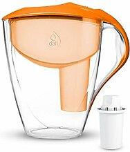 Dafi Astra 3L Classic Filterkanne Wasserfilter Tischwasserfilter inkl. 1x 30-Tage Classic Filterkartusche. In verschiedenen Farben erhältlich Farbe:Orange