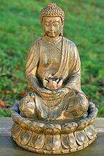 DAFLOXX Brunnen Buddha 52cm incl. Beleuchtung,