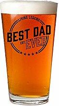 Daft & Co. Bierglas Best Dad In The Galaxy, inkl.