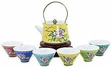 Dahlia Chinesische Pfingstrose Porzellan Tee-Set
