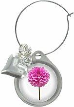Dahlie Blume Bild Design Weinglas Anhänger mit schicker Perlen
