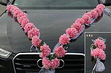 DAHLIEN GIRLANDE Auto Schmuck Braut Paar Rose Deko