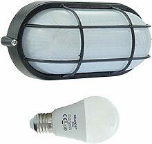 Dahme -LED 10W - E27 - Aluminium -Alu wandstrahler