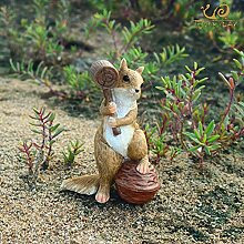 DAIFUQIANG Tierfigur Garten Ornamente Dekoration