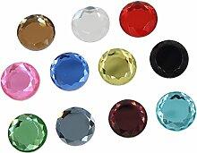 dailymall 25 Stü Runde Facettierte Glas Crystal